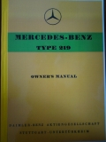 MERCEDES PONTON W105 TYPE219 - OWNER´S MANUAL ENGLISH